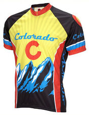 Colorado Cycling Jersey by World Jerseys Men's Short Sleeve with DeFeet Socks