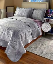 Monticello Quilted Faux Mink Comforter Bedding Sham Bedspread Quilt Set