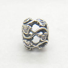 Authentic Genuine S925 Sterling Silver Minnie & Mickey Infinity CHARM Bead