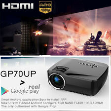 1920x1080P Wireless Bluetooth WIFI HD Projector Home Cinema Android 4.4 GP70UP