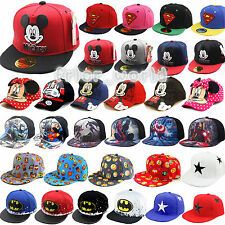 Cartoon Emoji Kids Boys Girls Superheros Baseball Cap Mickey Snapback Flat Hats