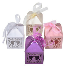 10/50/100 PCSNew Luxury Wedding Party Sweets Cake Candy Gift Favour Favors Boxes