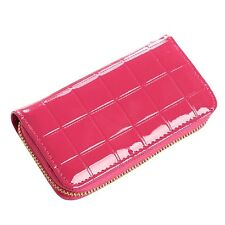 Women Patent Leather Credit Card Holder Money Wallets And Purse