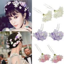 2x Wedding Flower Hair Pins Clip Elegant Headpiece Fashion Wedding Hair Decor
