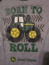 NWT JOHN DEERE BORN TO ROLL TRACTOR Image 6/9M, 9/12M, 12/18M Snap Long Sleeve T