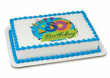Happy 50th Birthday 50 edible image cake topper frosting personalized #20011