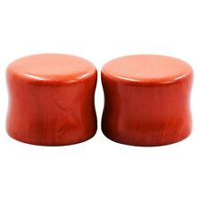 Fashion Redstone Ear Tunnel Plugs Natural Gem Gauges Fits Lot New Double Flare