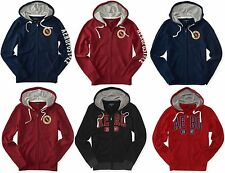 AERO Aeropostale Men Full Zip Logo Hoodie Hooded Sweatshirt  XS,S,M,L,XL,2XL,3XL