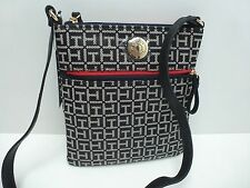 TOMMY HILFIGER XBody Messenger Bag*Black/Red Shoulder Purse New $69