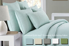Delaney Home Oversized Square Box Quilted Pattern Quilt Set