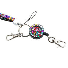 Fashion Retractable Key Holder ID Name Card Badge Reel Phone Lanyard