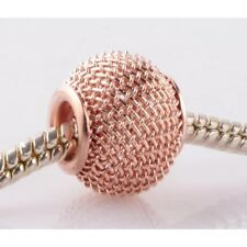 Rose Gold Plated  Bead Charm - Suits Pandora Bracelet