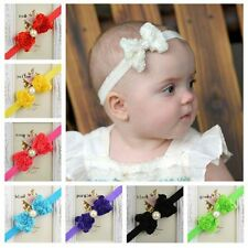 Hot Items Elastic Rose Bow Lace Flower Headband Baby Darling Newborn Hairband