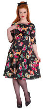 NEW HELL BUNNY BLACK WILDLIFE 50s ROCKABILLY SWING RETRO VINTAGE FLORAL DRESS