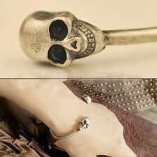 Metal Jewelry Popular Gothic Rock Bangle Bracelet Cool Cuff Skeleton Skull