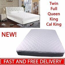 Soft Mattress Topper Pad Waterproof Bedding Protector Queen King Size Bed Cover