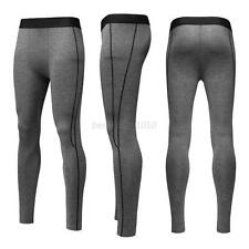 Mens Compression Pants Tights Jogger Fitness Skinny Base Under Layer Trousers