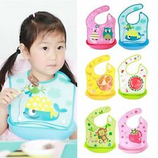 Baby Kids Toddler Waterproof Cartoon Lunch Bibs Infant Animal Saliva Towel Bibs