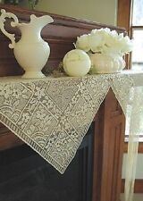 $ SAVE $ CHANTILLY Fringe Lace Mantel Scarf...Factory Mistake...Your Gain