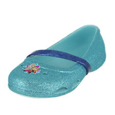 Crocs Lina Frozen Flat K Ice Blue Kids Girls Ballerinas Size 3M