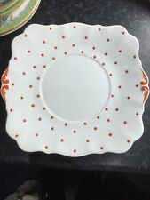 Royal Standard Red Polka Dot Hand Painted Cake Plate