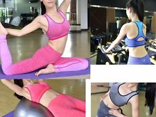 Bra No Steel Ring Gradient Ombra Tank Top Yoga Workout Fitness Sports Pants Vest