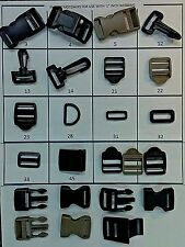 "1"" Cam Buckle, Side Release Buckle, Ladder Rack, Snap Hook, Slide Ring & more"