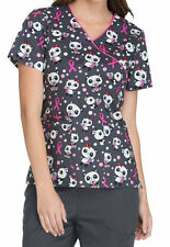 Dickies Medical Breast Cancer Awareness Beary Caring Top Size XS-XXL NWT