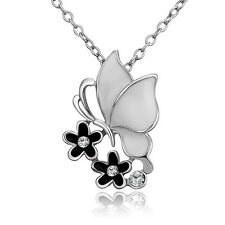 Gold Chain Necklet Oil Drip Zircon Butterfly Shape Pendant Necklace