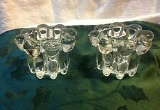 Vintage Taper/Dinner Candle Holders, Pair Of Very Heavy Glass from Indonesia