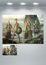 Wonder Woman Giant Wall Art Poster Print Split Sections or Giant 1 Piece A0 A1