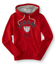 aeropostale mens aero-ny shield pullover hoodie red