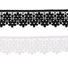 3 Yards Venise Embroidered 2-layer Flower Lace Trimming Sewing Craft DIY