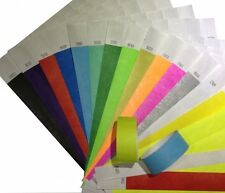 1000 Tyvek Security and Event Wristbands - CHOICE OF COLOURS
