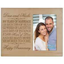 10th Anniversary Wedding Gift Personalized 4x6 Picture Photo Frame Engraved