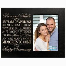 Personalized 15th  4x6 Anniversary Wedding Gift Picture Photo Frame Engraved
