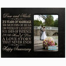 25th Wedding Anniversary Picture Frame New Wood 4x6 Photo Personalized