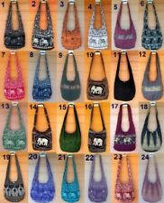 Thai Hippie Hobo Shoulder Bag Crossbody Sling Yaam Elephant Zip Free Shipping