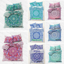 Indian Mandala Cotton Doona Reversible Duvet Comforter Quilt Cover Pillow Cover