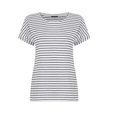 Warehouse red white black Breton stripe Tee top uk size 6-20