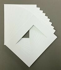 Bux1 Picture Matting Pack of 10 16x20 White Picture Mats or Photography Matting