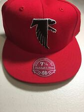 ATLANTA FALCONS RED MITCHELL & NESS NFL FITTED HAT FREE SHIPPING