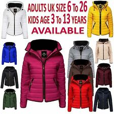 New Ladies Womens Puffer Bubble Padded Quilted Fur Collar Coat Warm Parka Jacket
