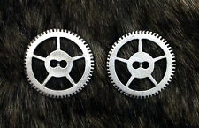 2 Steampunk Gear Pewter Sew Through Buttons 15/16 Inch (23 mm) #1114