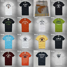 NWT ABERCROMBIE & FITCH MENS CLASSIC GRAPHIC TEE MULTI COLOR SIZE MEDIUM A&F