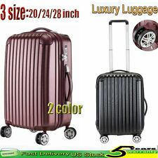 "20"" 24"" 28"" Carry On Luggage Travel Bag Set Suitcase  Trolley TSA Lock Tag New"