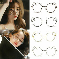 Classic Round Lens Unisex Metal Frame Clear Glasses Nerd Spectacles Eyeglass