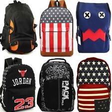 Canvas Backpack Boy Girl School Bag Bookbag Men Laptop Rucksack Large Back Pack