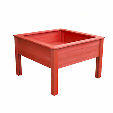 2ft x 2ft WOODEN CHILDRENS TABLE PLANTER RED OR BLUE OUTDOOR SQUARE PLANTERS NEW