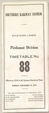 1971 Southern Railway System Eastern Lines Piedmont Division No. 88 ETT